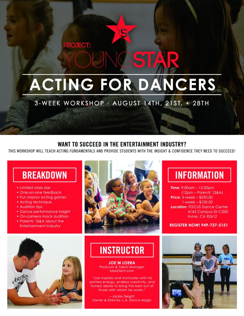 Project YOUNGSTAR_Acting for Dancers
